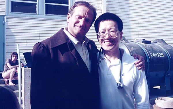 Dr. Jim Savage and Robin Williams